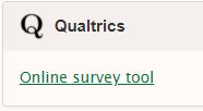 Upon Logging Into Myunt In The Lower Right Corner Of Your Myunt Homepage Will Be The Link To The Qualtrics Online Survey Tool As Shown Below