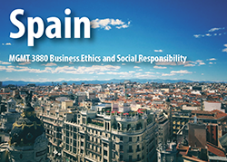 Spain, MGMT 3880 Business Ethics and Social Responsibility